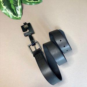 New FRYE Black Leather Belt